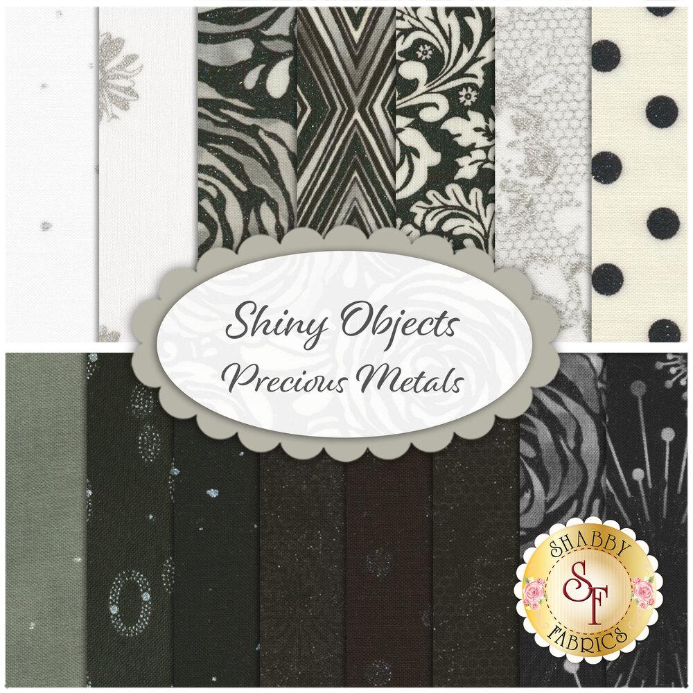 Shiny Objects  Precious Metals  15 FQ Set for RJR Fabrics