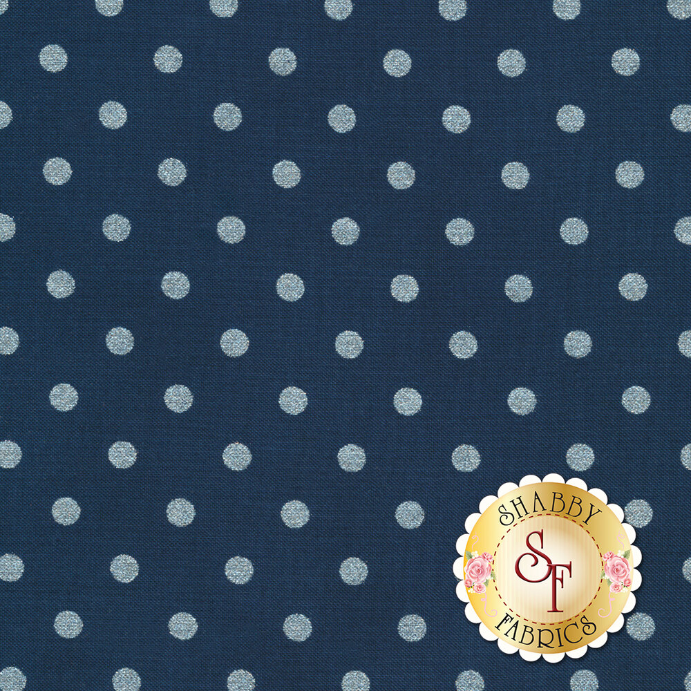 Shiny Objects Sweet Somethings 3164-10 Spot On Blueberry by Flaurie & Finch for RJR Fabrics