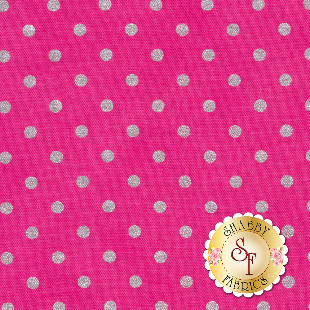 Shiny Objects Sweet Somethings 3164-12 Raspberry by Flaurie & Finch for RJR Fabrics