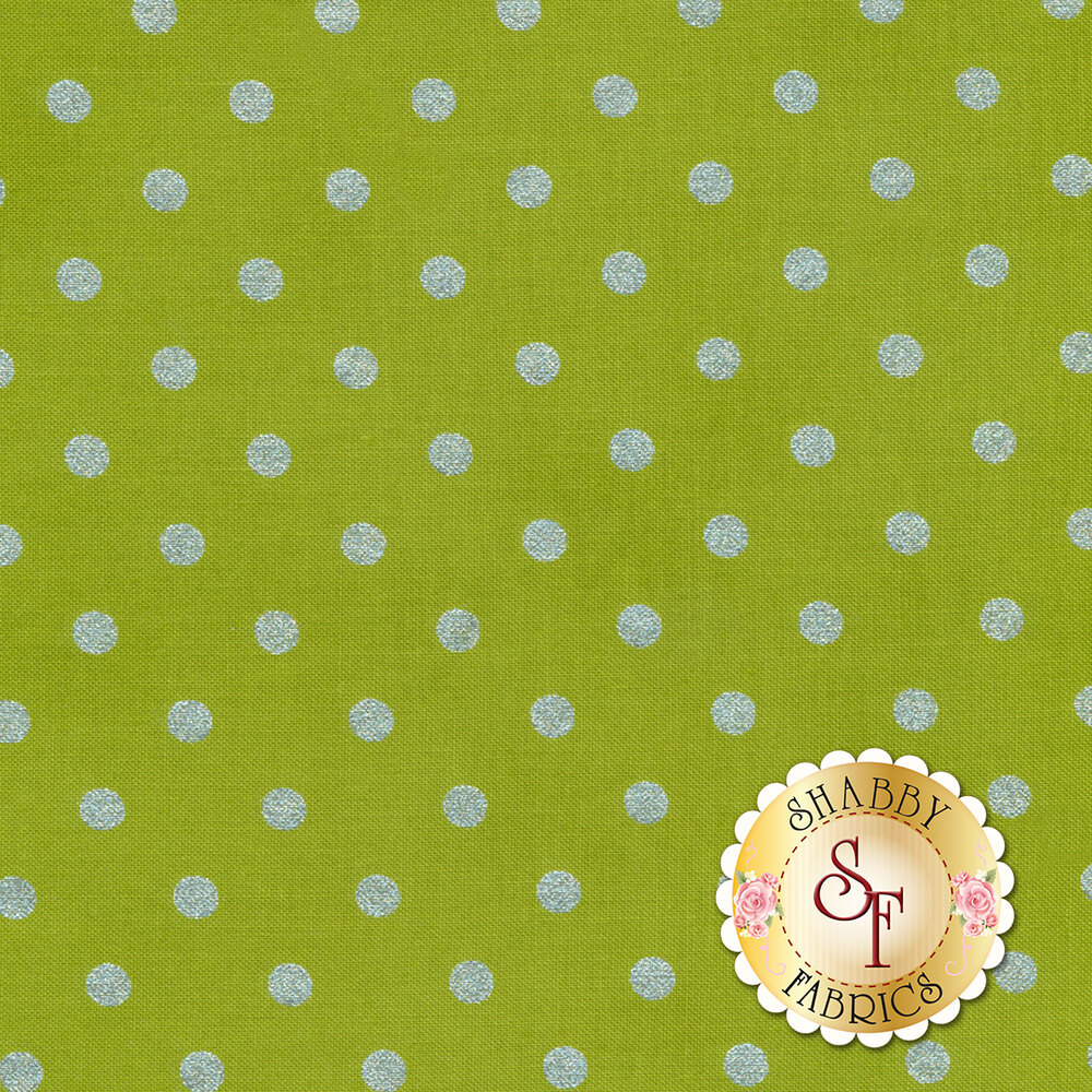Shiny Objects Sweet Somethings 3164-13 Spot On Lime by Flaurie & Finch for RJR Fabrics