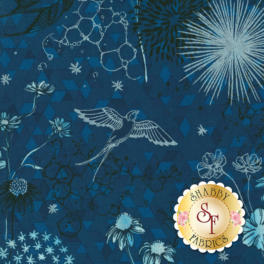 Shiny Objects Sweet Somethings 3529-1 Only In Dreams Blueberry by Flaurie & Finch for RJR Fabrics