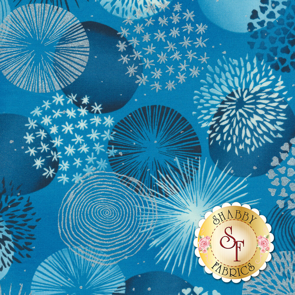Shiny Objects Sweet Somethings 3530-1 Bonbon Blueberry by Flaurie & Finch for RJR Fabrics