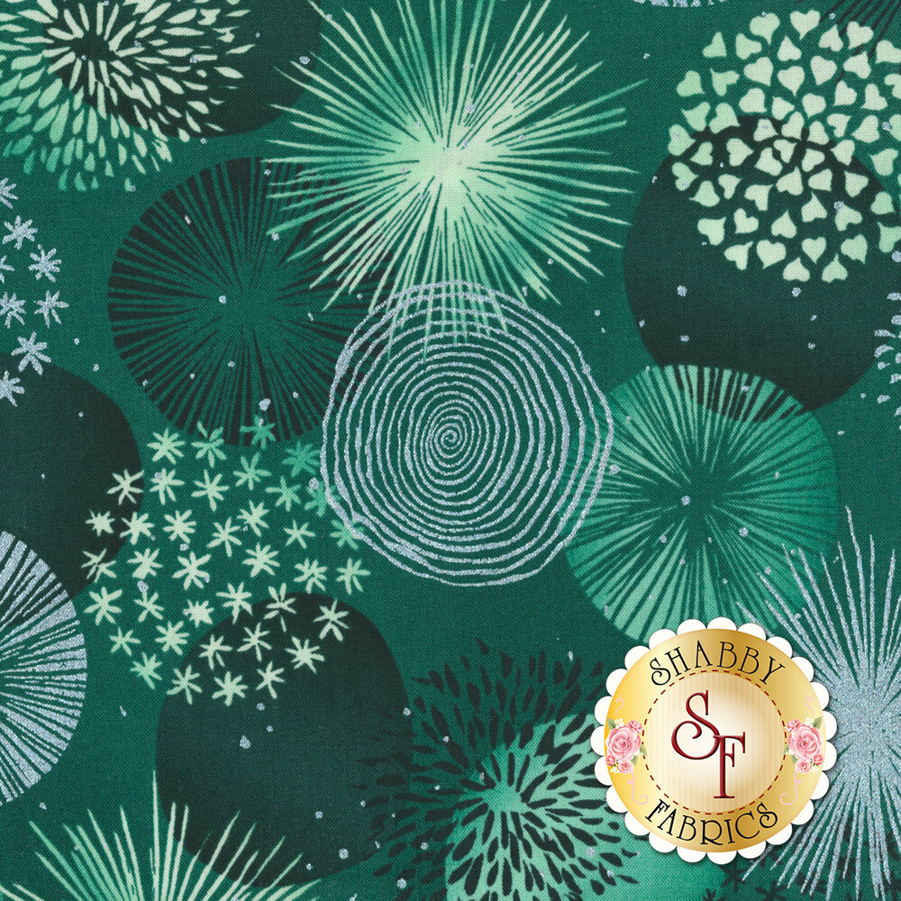 Shiny Objects Sweet Somethings 3530-2 Bonbon Mint Leaf by Flaurie & Finch for RJR Fabrics