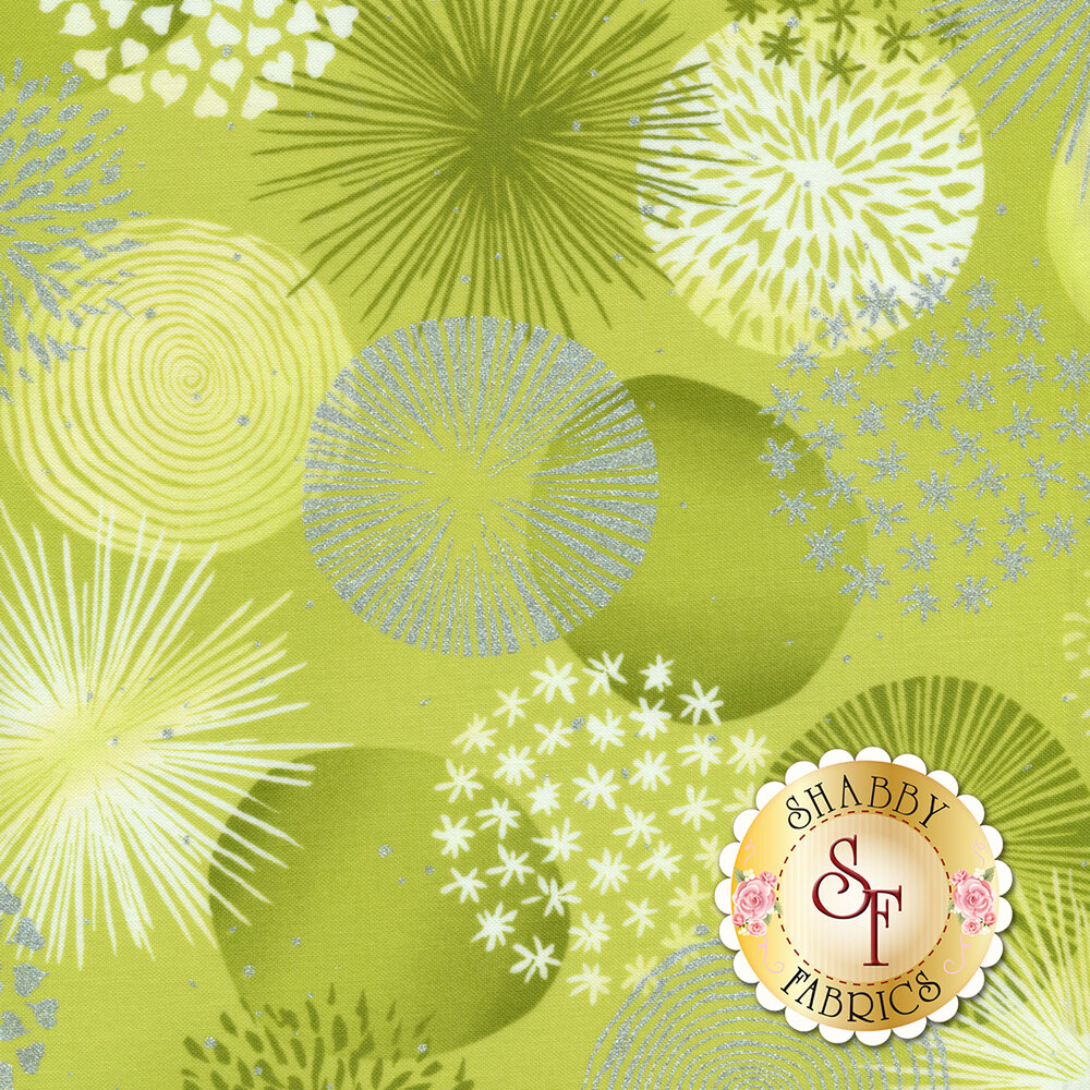 Shiny Objects Sweet Somethings 3530-4 Bonbon Lime by Flaurie & Finch for RJR Fabrics