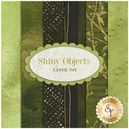 Shiny Objects  6 FQ Set - Green Set by Flaurie and Finch for RJR Fabrics
