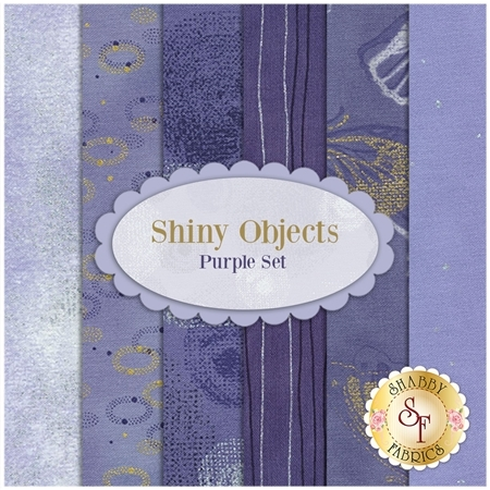 Shiny Objects  6 FQ Set - Purple Set by Flaurie and Finch for RJR Fabrics