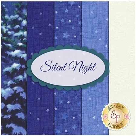 Silent Night  5 FQ Set by Corbert Gauthier from Northcott Fabrics