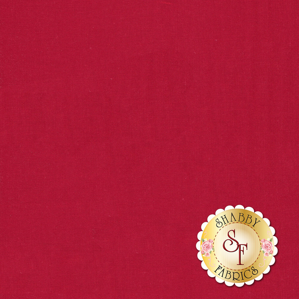 Silky Cotton Solids EESSCS-131 Red by Elite | Shabby Fabrics