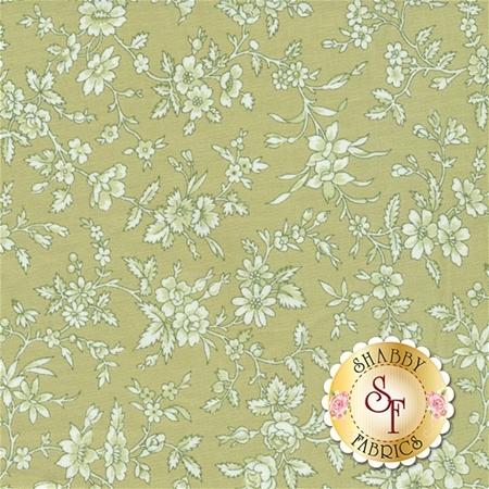 Simply Chic 3817-40 Green Blossom by Anna Stuart for Benartex Fabrics