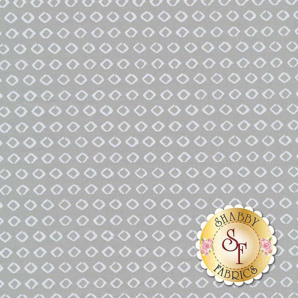 Stylized diamonds on a dark grey background | Shabby Fabrics