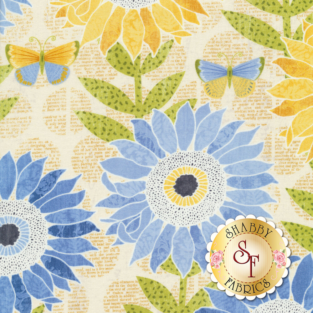 Sing Your Song 68457-545 Large Sunflowers Yellow by Anne Rowan for Wilmington Prints