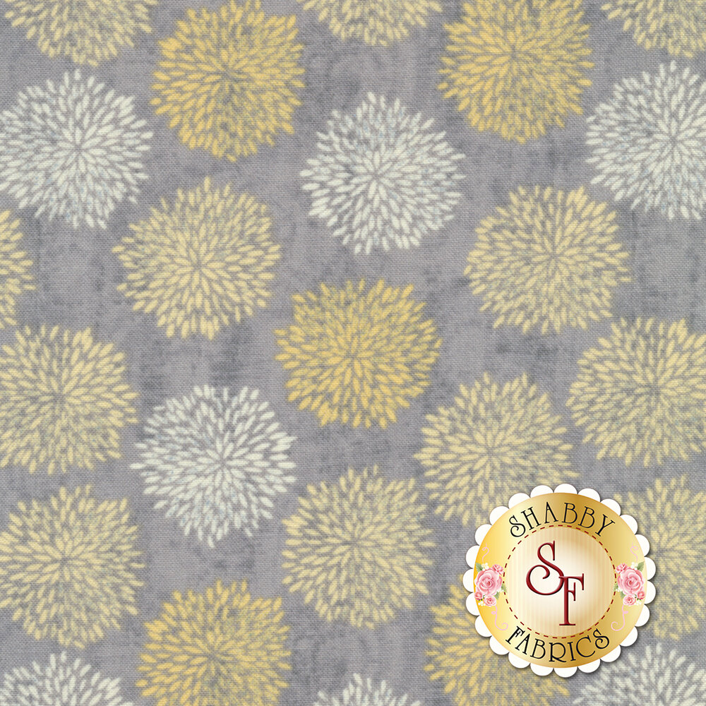 Sing Your Song 68461-955 Floral Silhouettes Gray by Anne Rowan for Wilmington Prints