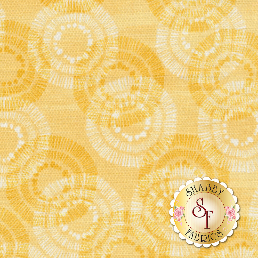 Sing Your Song 68462-555 Circles & Dots Yellow by Anne Rowan for Wilmington Prints