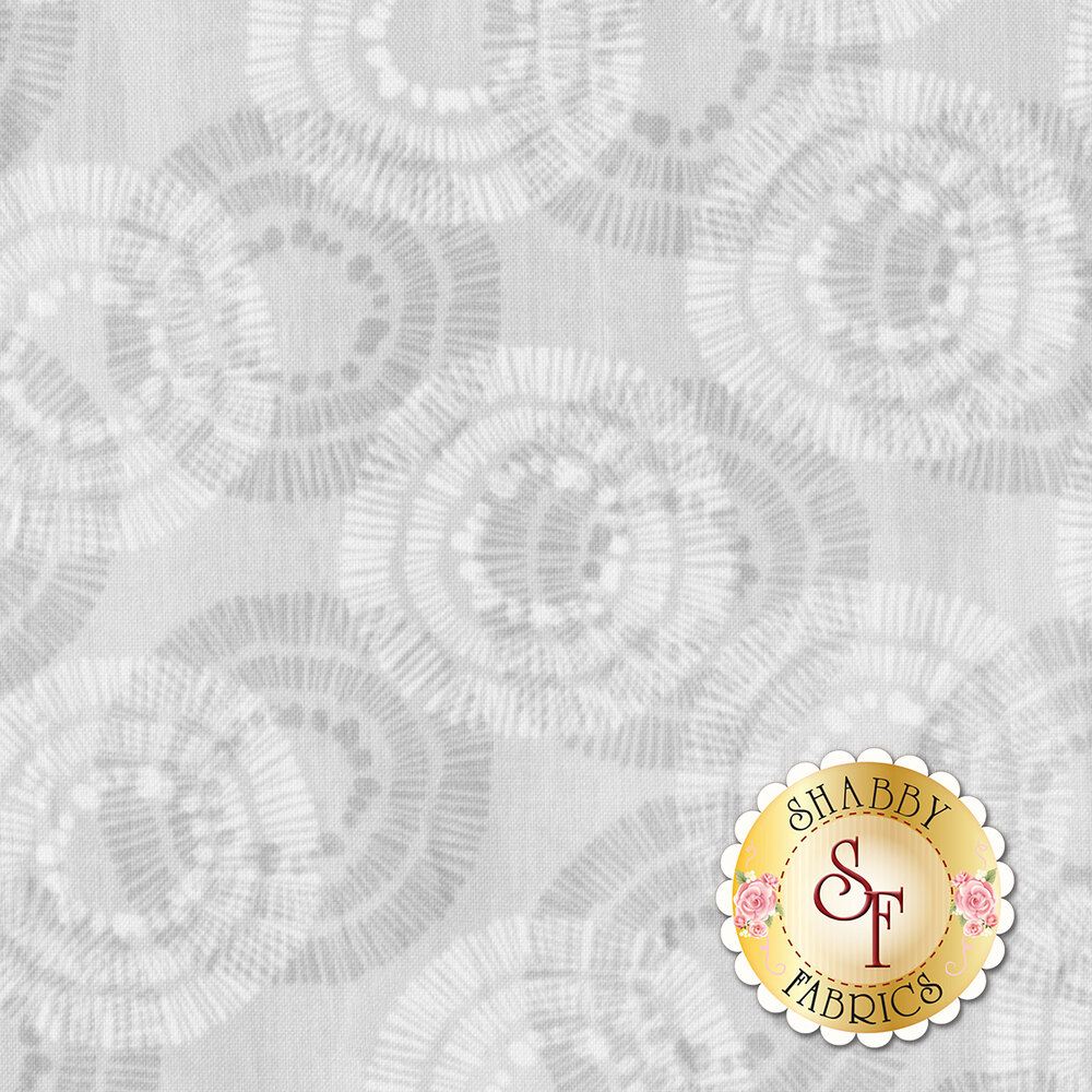 Sing Your Song 68462-999 Circles & Dots Gray by Anne Rowan for Wilmington Prints