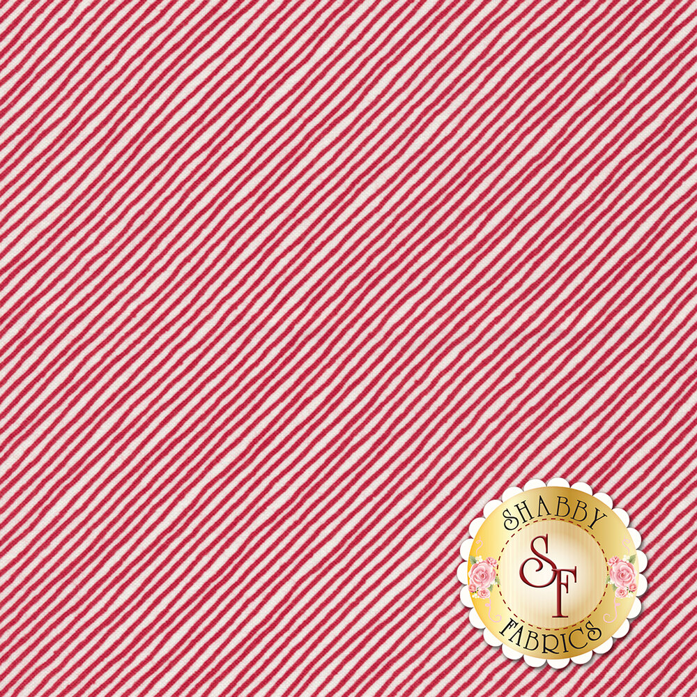 Sing Your Song 68463-133 Stripe Red by Anne Rowan for Wilmington Prints