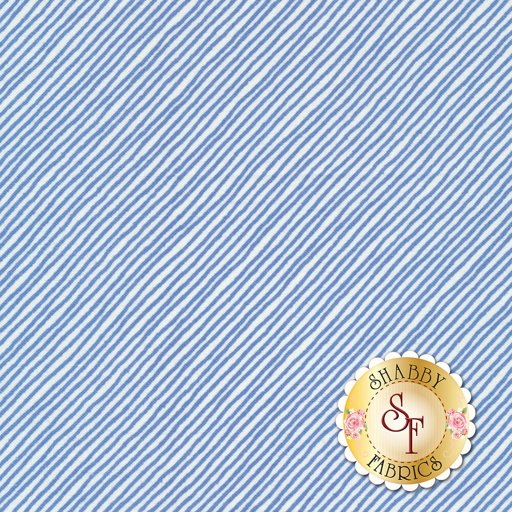 Sing Your Song 68463-144 Stripe Blue by Anne Rowan for Wilmington Prints