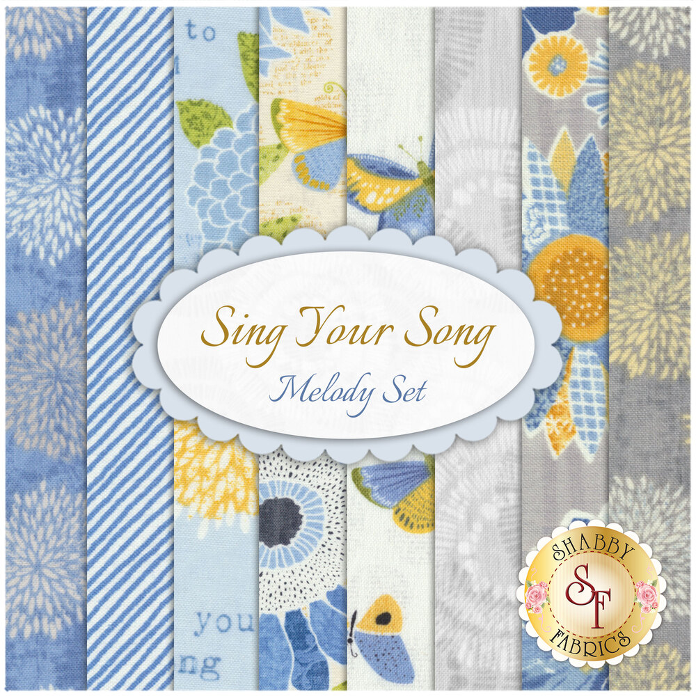 Sing Your Song   8 FQ Set - Melody Set by Wilmington Prints
