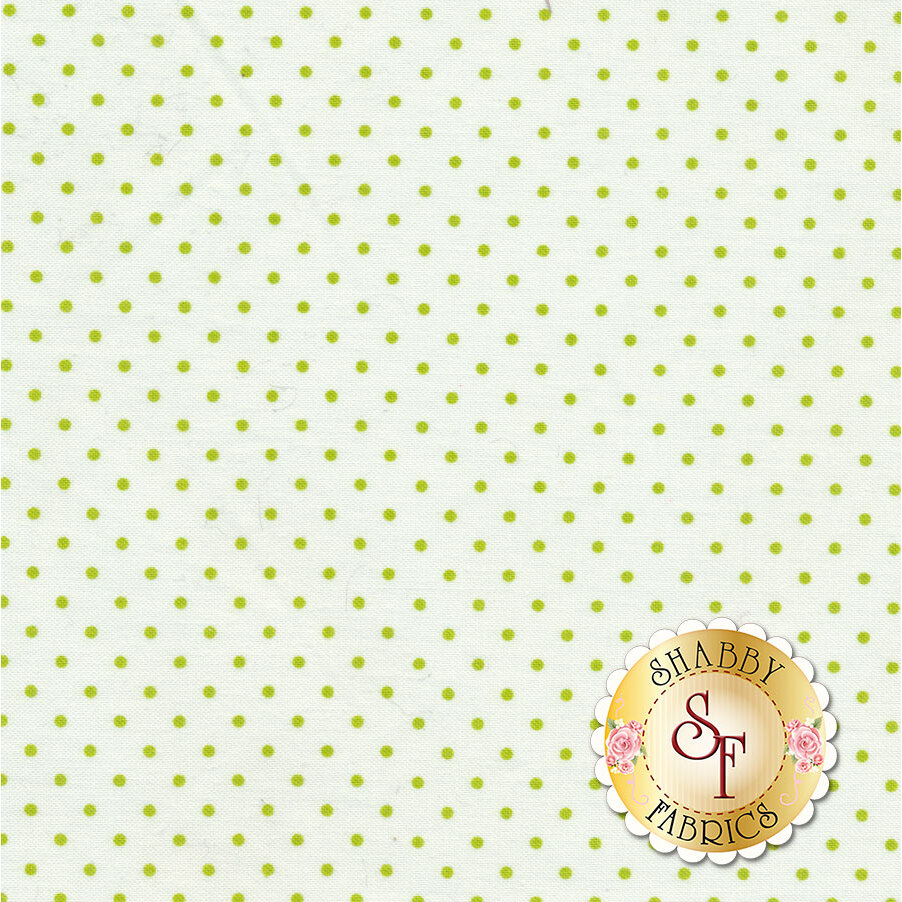Swiss Dots C660-32 Lime by Riley Blake Designs available at Shabby Fabrics