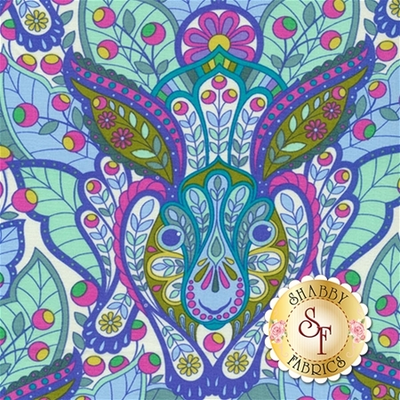 Slow & Steady PWTP084-BLU by Tula Pink for Free Spirit Fabrics