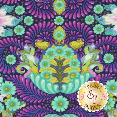 Slow & Steady PWTP085-BLU by Tula Pink for Free Spirit Fabrics