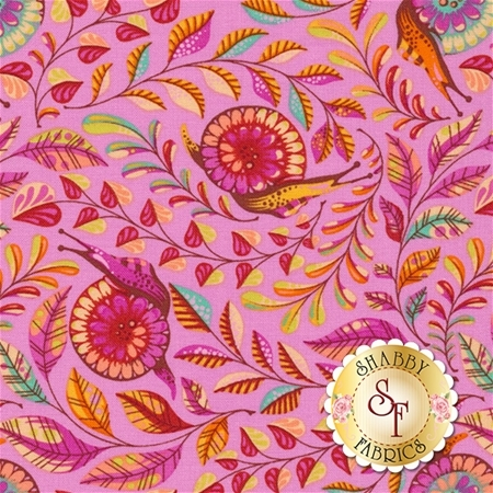 Slow & Steady PWTP086-ORG by Tula Pink for Free Spirit Fabrics