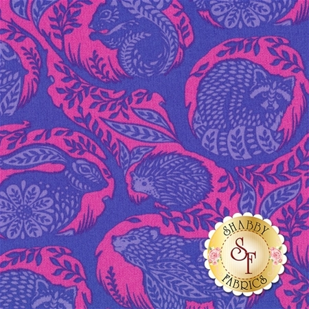 Slow & Steady PWTP087-BLU by Tula Pink for Free Spirit Fabrics