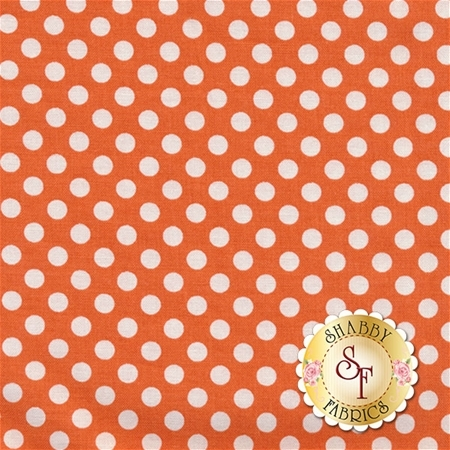 Small Dots C350-60 Orange By Riley Blake Designs