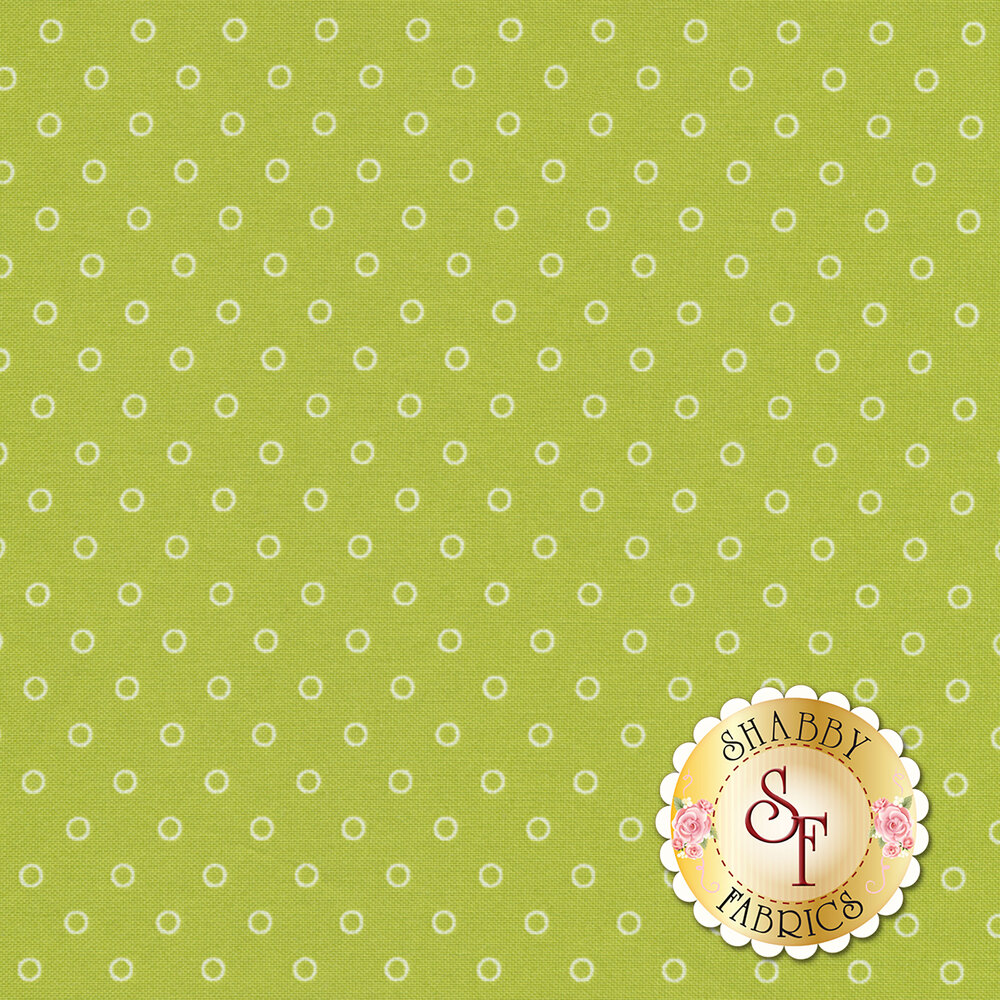 Smitten 55172-16 Darling Little Dot Green from Moda