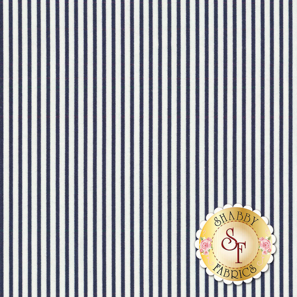 Smitten 55173-15 Pinstripe Navy from Moda