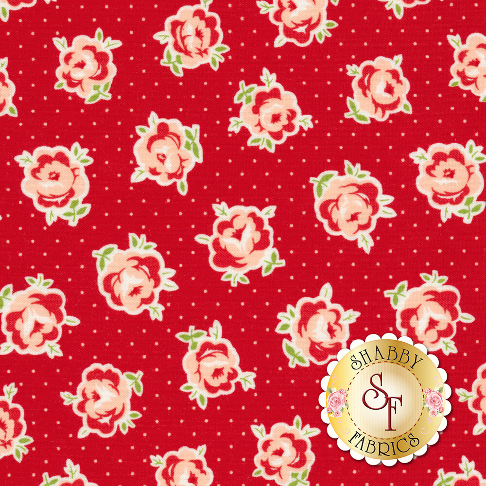 Smitten 55177-11 Lovely Red for Moda Fabrics