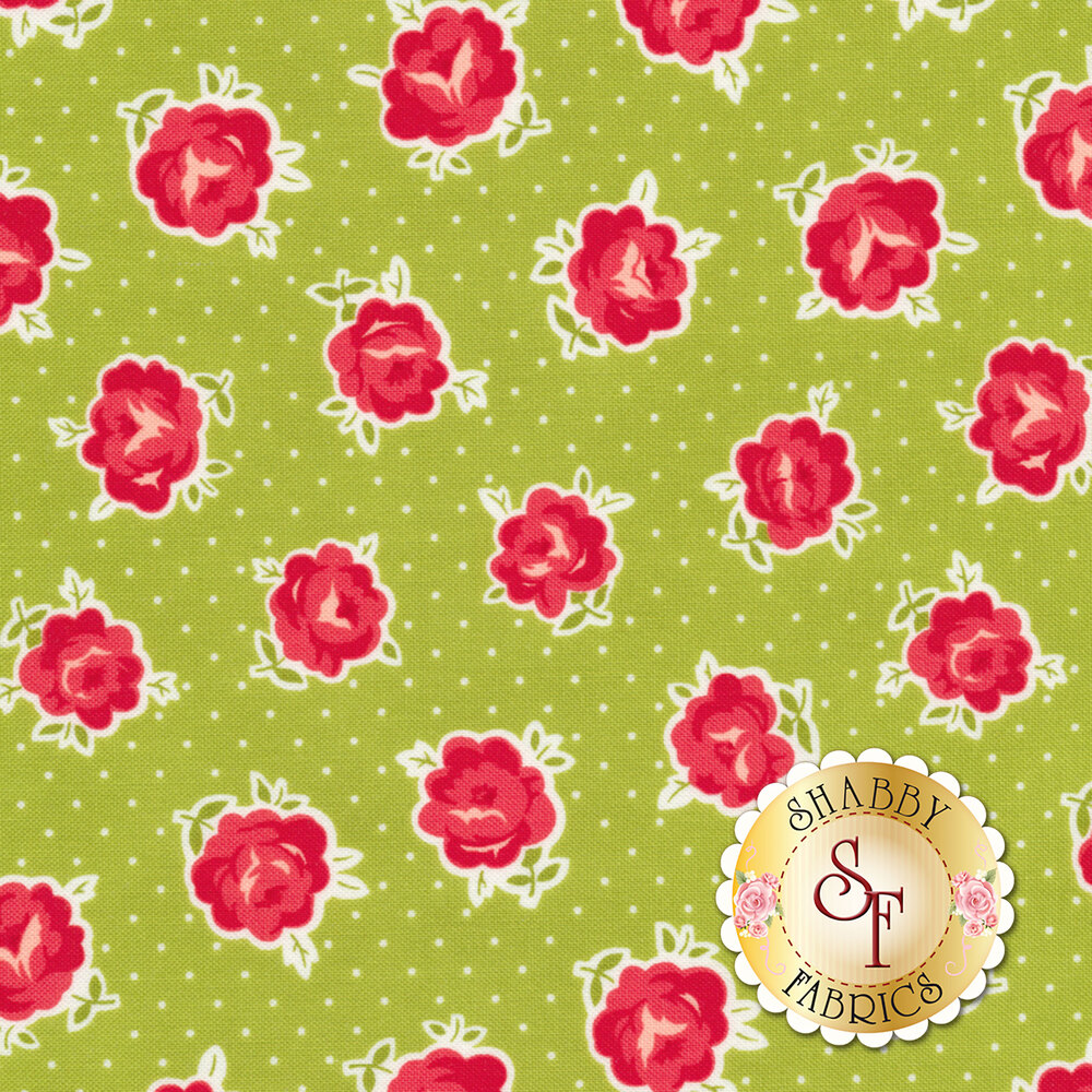 Smitten 55177-16 Lovely Green for Moda Fabrics