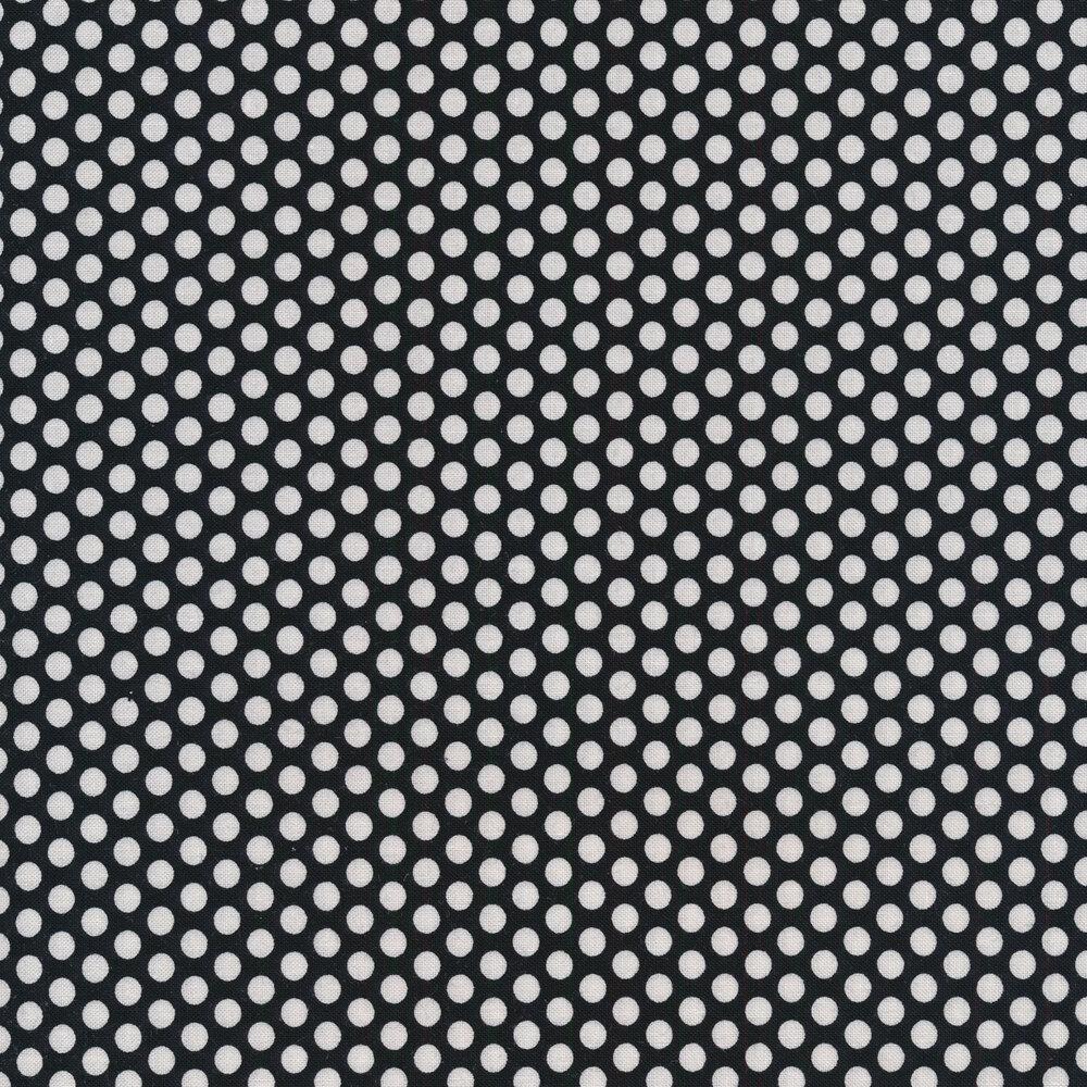 White dots all over black | Shabby Fabrics