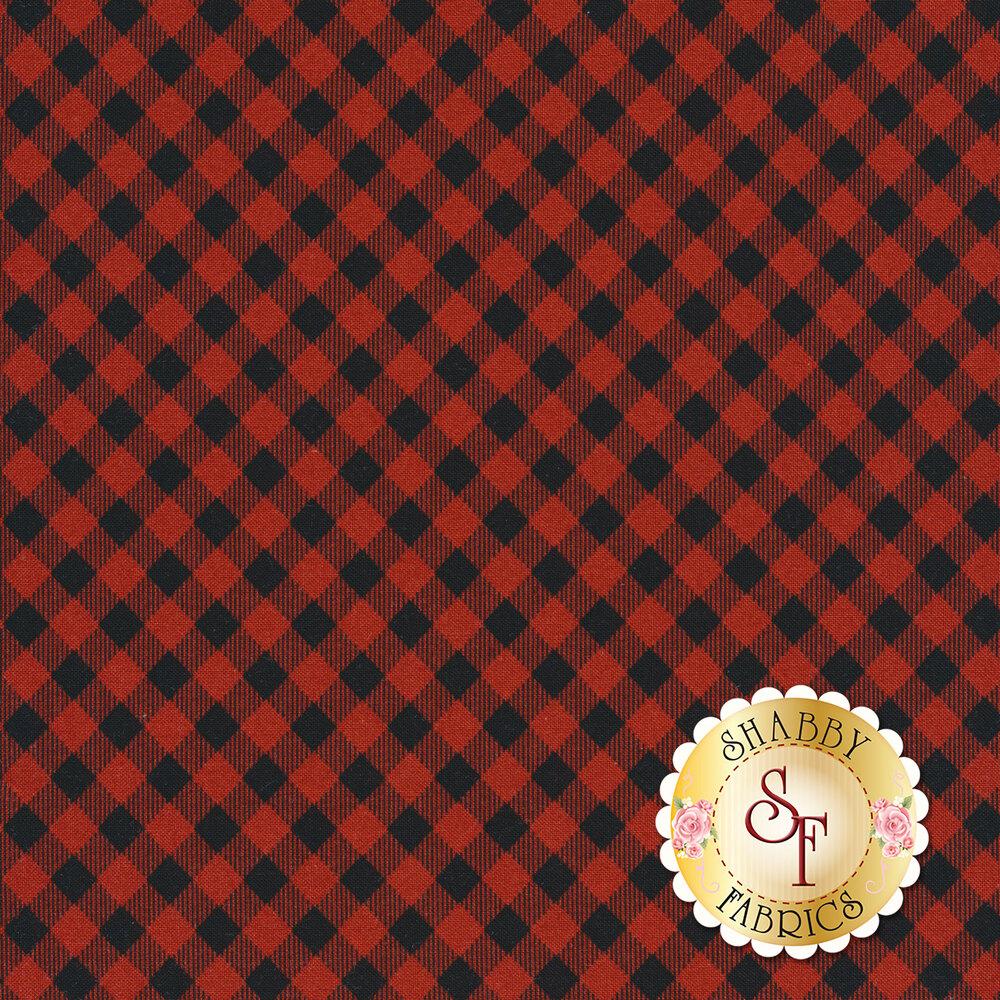 Red and black buffalo plaid | Shabby Fabrics