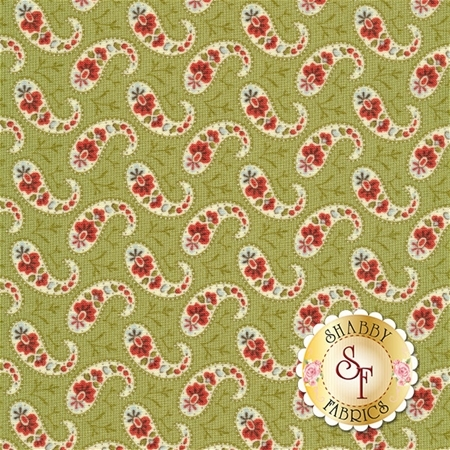 Snowfall 14834-13 Garland Green by Minick and Simpson for Moda Fabrics- REM