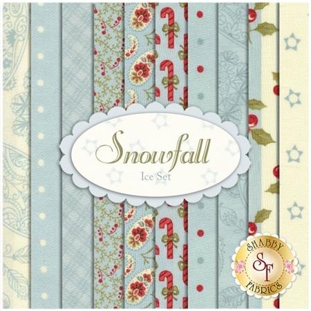 Snowfall  10 FQ Set - Ice Set by Minick and Simpson for Moda Fabrics