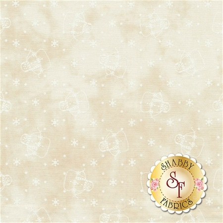 Snowman Gatherings III 1210-11 Tallow Snow by Primitive Gatherings for Moda Fabrics