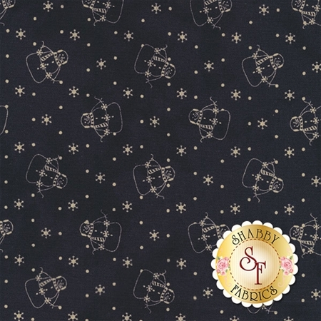 Snowman Gatherings III 1210-17 Navy by Primitive Gatherings for Moda Fabrics