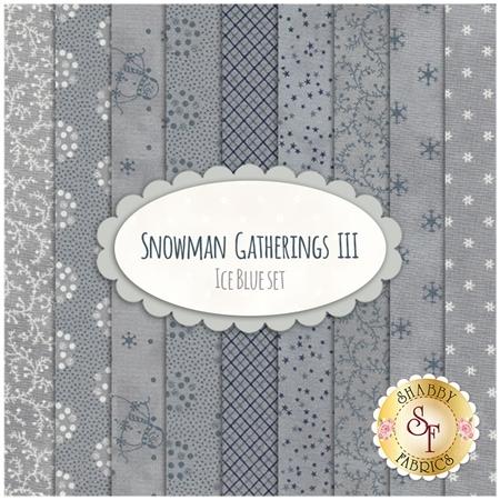 Snowman Gatherings III  9 FQ Set - Ice Blue Set by Primitive Gatherings for Moda Fabrics