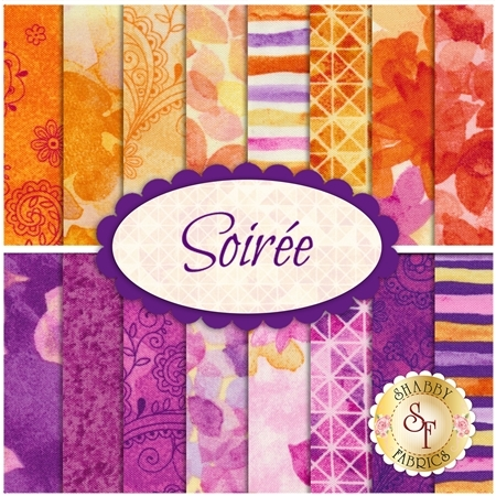 Soirée  16 FQ Set by Quilting Treasures