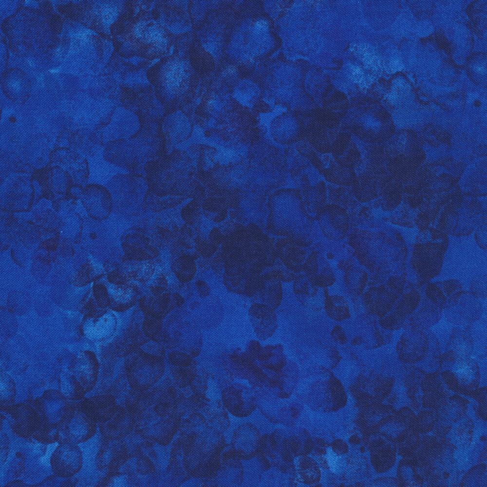 Deep blue mottled and marbled basics fabric | Shabby Fabrics