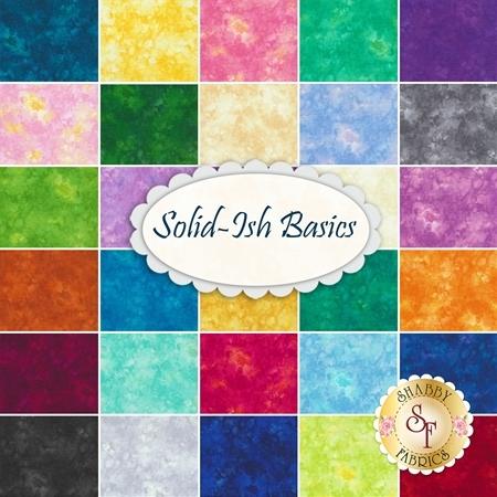 Solid-Ish Basics  30 Fat Eighth Set by Timeless Treasures Fabrics