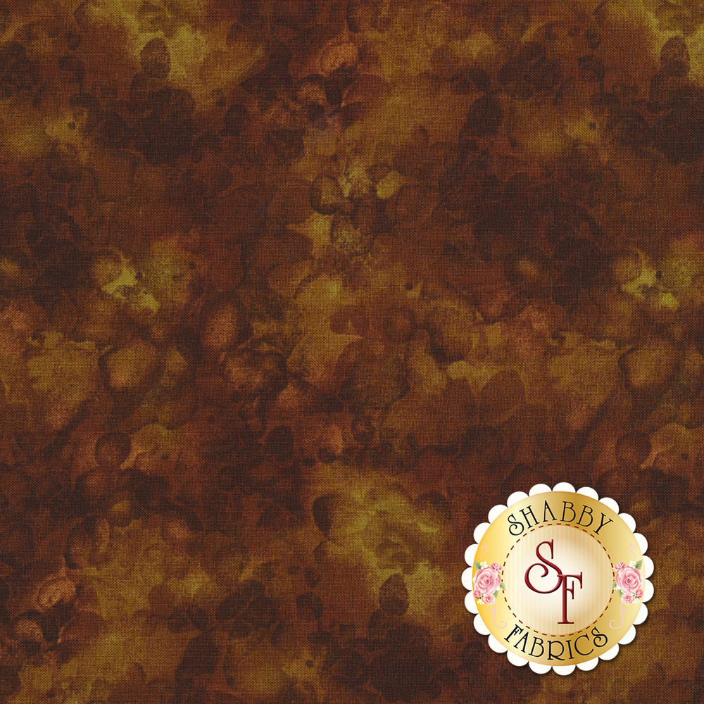 Brown mottled and marbled basics fabric | Shabby Fabrics