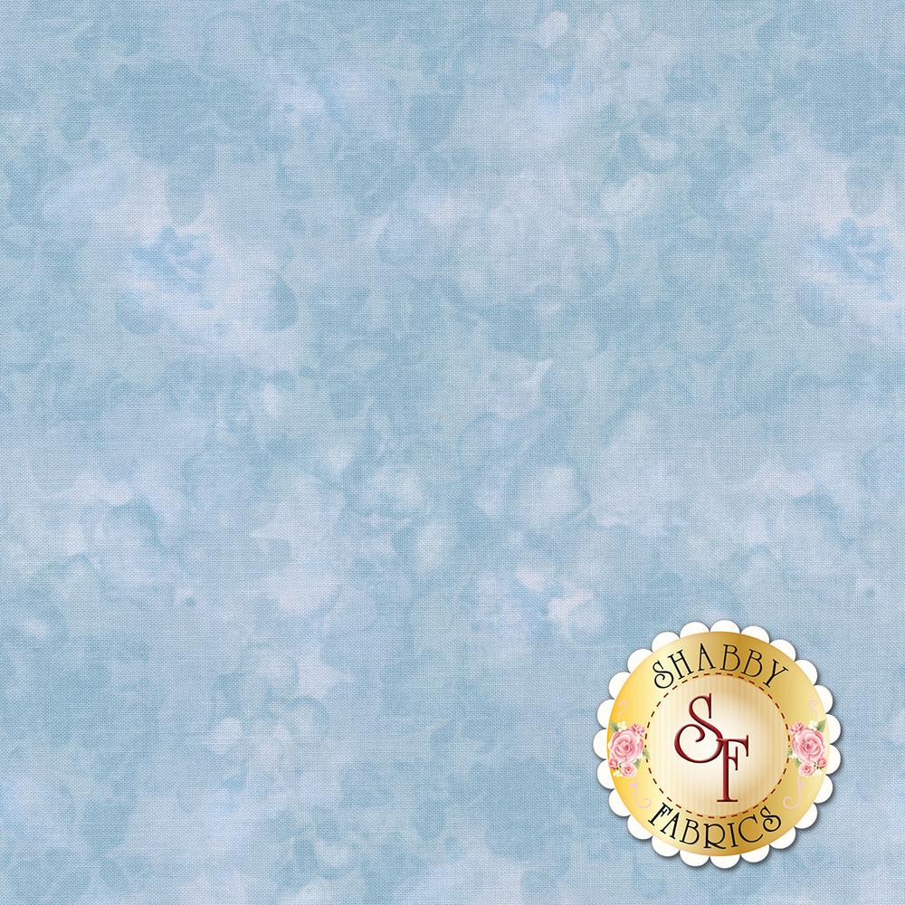 Blue mottled and marbled basics fabric | Shabby Fabrics