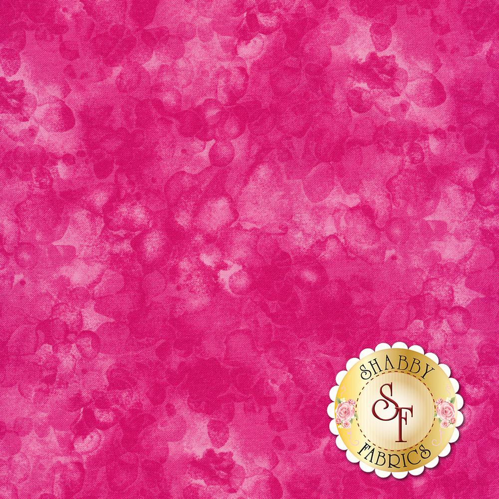 Bright pink tonal mottled and marbled basics fabric | Shabby Fabrics