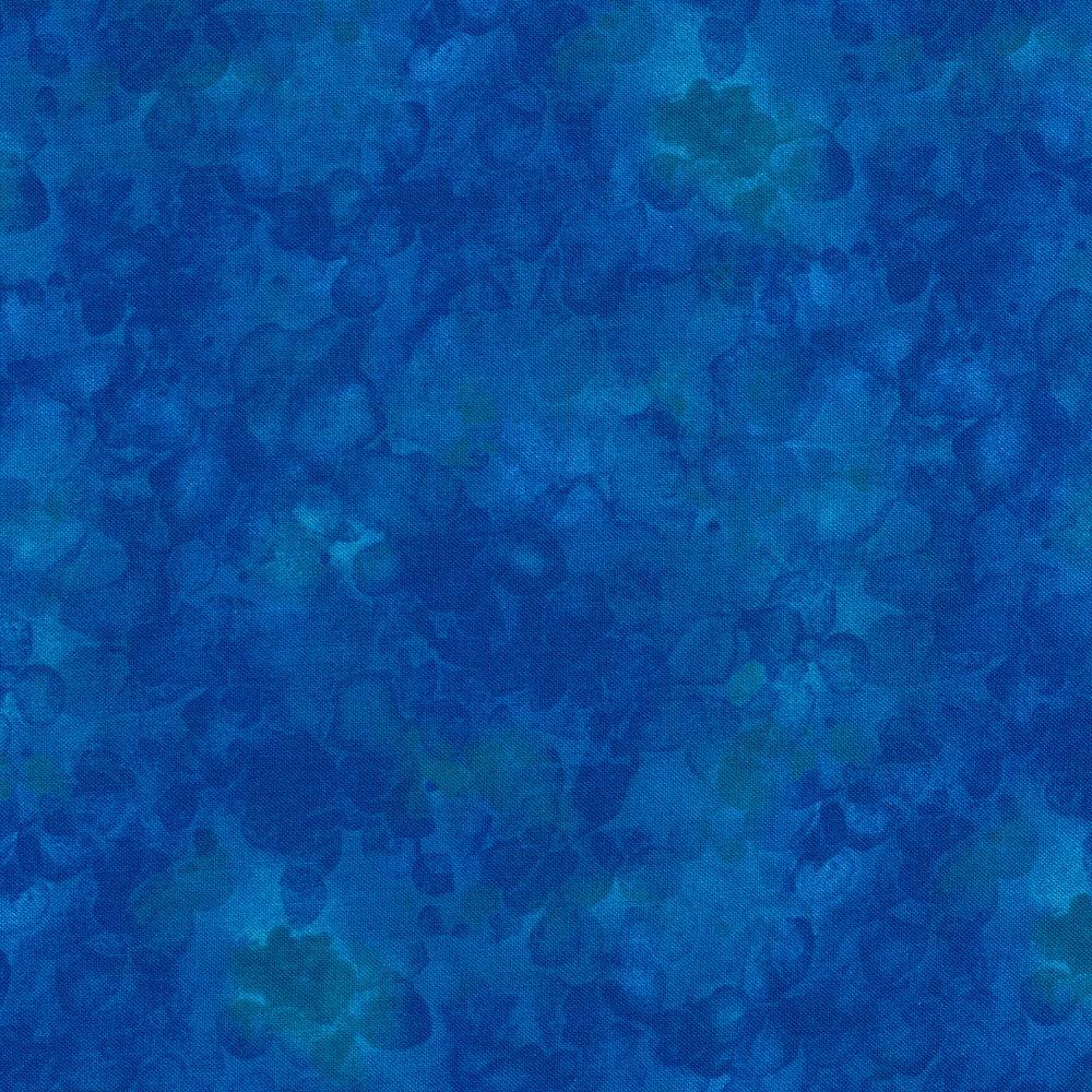A tonal blue marbled and mottled basics fabric | Shabby Fabrics