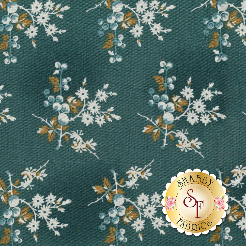 Something Blue 8824-B Ocean Fresh Berries by Edyta Sitar from Andover Fabrics