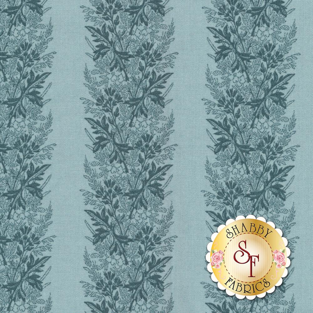 Something Blue 8827-B Cadet Wreath by Edyta Sitar from Andover Fabrics