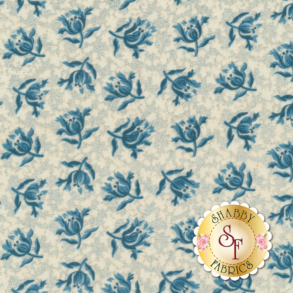 Something Blue 8829-L Promise Peony by Edyta Sitar from Andover Fabrics
