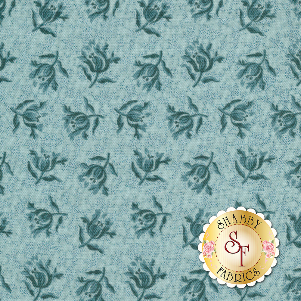 Something Blue 8829-W Sky Peony by Edyta Sitar from Andover Fabrics