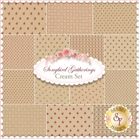 Songbird Gatherings  14 FQ Set - Cream Set by Primitive Gatherings for Moda Fabrics